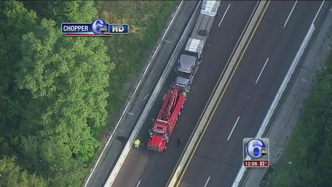 Lanes reopen after trucks collide on Pa. Turnpike NE Extension