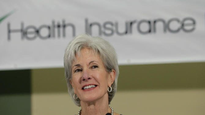Health and Human Services Secretary Kathleen Sebelius sits on a panel to answer questions about the Affordable Care Act enrollment, Friday, Oct. 25, 2013, in San Antonio. (AP Photo/Eric Gay)