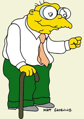Hans Moleman (voiced by Dan Castellaneta) Fox's The Simpsons