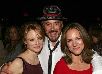 Jodie Foster , Robert Downey Jr. and Producer Susan Downey at the New York City Premiere of Warner Bros. Pictures' The Brave One