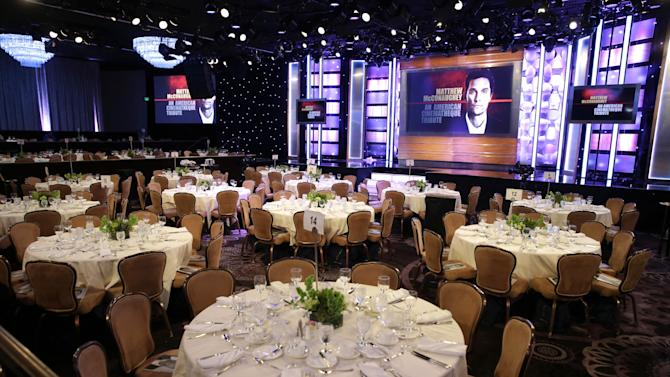 A general view of atmosphere seen at the 28th Annual American Cinematheque Awards Honoring Matthew McConaughey held at The Beverly Hilton on Tuesday, Oct 21, 2014, in Beverly Hills. (Photo by Eric Charbonneau/Invision for American Cinematheque/AP Images)