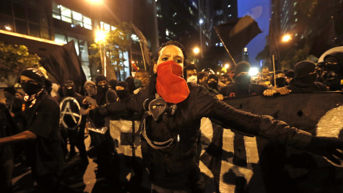 Some violence after protests in Brazilian cities