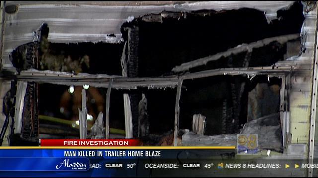 1 dead after fire breaks out inside mobile home