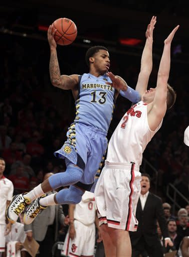 No. 15 Marquette beats St. John's 69-67 in OT