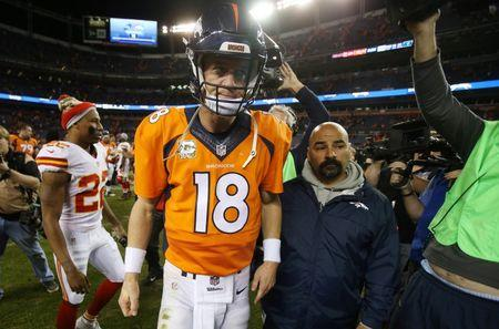 Manning out of action for at least two weeks with injured foot