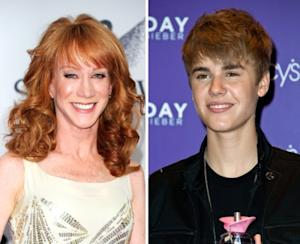 Kathy Griffin, Justin Bieber -- Getty Images