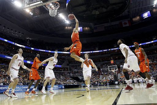 Syracuse's D, Carter-Williams beat Indiana 61-50