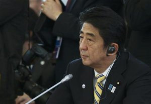 Japanese Prime Minister Abe attends the first working …