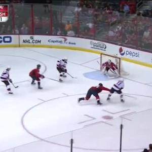 Braden Holtby Save on Adam Henrique (08:37/1st)