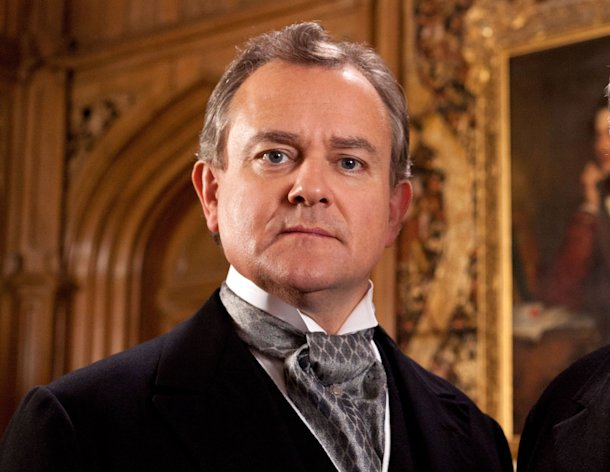 This publicity image released by PBS shows Hugh Bonneville in a scene from the popular series &quot;Downton Abbey.&quot; Bonneville portrays the patriarchal Lord Grantham in the series, &quot;Downton Abbey.&quot; The season three finale airs Sunday, Feb., 17 on PBS. (AP Photo/PBS, Josh Barratt)