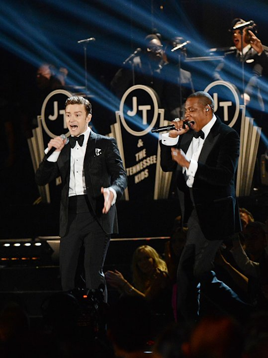 The 55th Annual GRAMMY Awards - Show: Justin Timberlake and Jay-Z