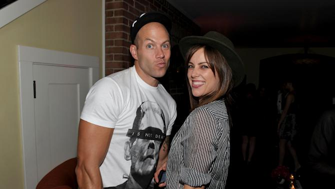 EXCLUSIVE CONTENT - Johnny Wujek, left, and Jessica Stroup attend Clearly Chateau at The Chateau Marmont on Thursday, May 24, 2013, in West Hollywood, Calif. (Photo by John Shearer/Invision for Spin Media/AP Images)