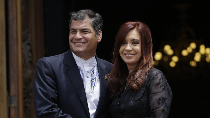 Argentine, Ecuador leaders talk southern alliance