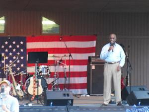 Herman Cain at the Douglas Co. Tea Party, June 2010.