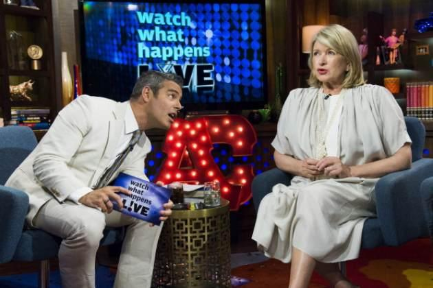 Martha Stewart seen on Bravo's 'Watch What Happens Live' on June 26, 2013 -- Bravo
