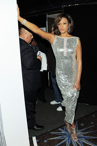 Whitney at the Pre-Grammy Gala last year