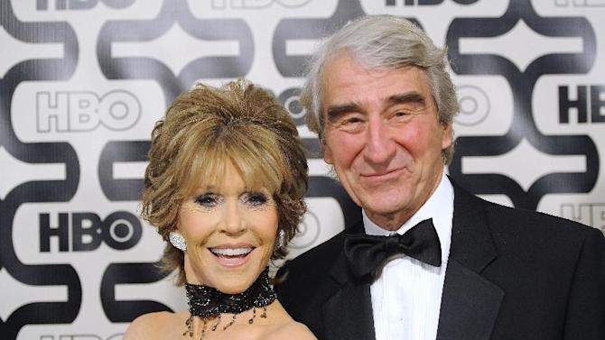 Actors Jane Fonda, left, and Sam Waterston arrive at the HBO Golden Globe After Party at the Beverly Hilton Hotel on Sunday Jan. 13, 2013, in Beverly Hills, Calif. (Photo by Chris Pizzello/Invision/AP)