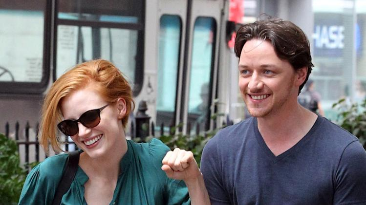 Spotted On Set, Jessica Chastain, James McAvoy
