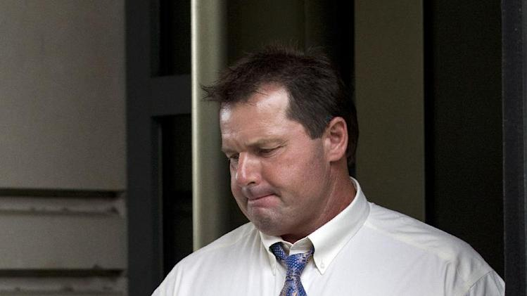 Former Major League Baseball pitcher Roger Clemens leaves the Federal Court in Washington Tuesday, June 12, 2012. Clemens' fate is in the hands of a jury that will decide if the former pitcher lied about performance-enhancing substances. The panel of eight women and four men began deliberations after a day of closing arguments in the ninth week of the trial. (AP Photo/Manuel Balce Ceneta)