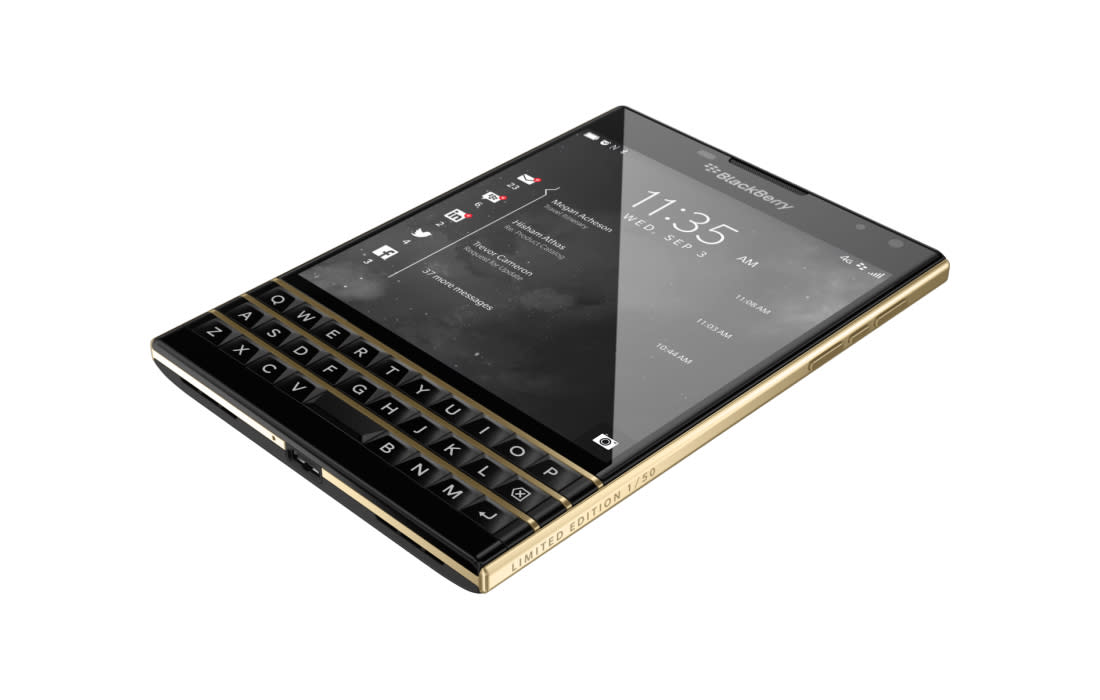 BlackBerry Passport gets a luxury limited edition