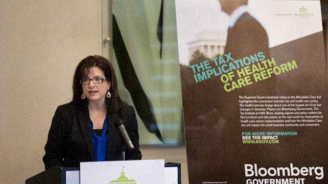 Kathy Pickering, Executive Director of The Tax Institute at H&R Block, delivers opening remarks during an event on the tax implications of health care reform, Thursday, February 28, 2013 in Tallahassee, Fla. The event is part of a multi-city engagement tour hosted by The Tax Institute at H&R Block and Bloomberg Government examining the effects of the Affordable Care Act on consumers, small businesses and the uninsured. (Colin Hackley / AP Images for The Tax Institute at H&R Block)