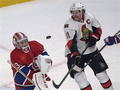 Desharnais, Cole lead Canadiens over Senators 2-1