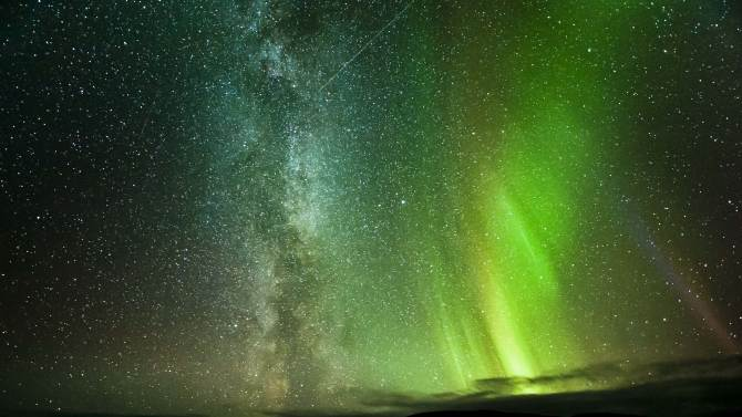 Milky Way and the Northern Lights