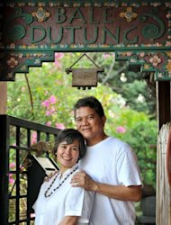 Chef and artist Claude Tayag and his wife Marry Anne pose for a portrait in their house on Angeles, Pampanga, north of Manila. Tayag sees himself as a food missionary, hoping to convert people at home and abroad to the secret cuisine wonders of the Philippines