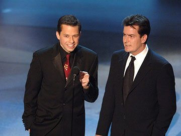 Jon Cryer, Charlie Sheen Emmy Awards - 9/18/2005
