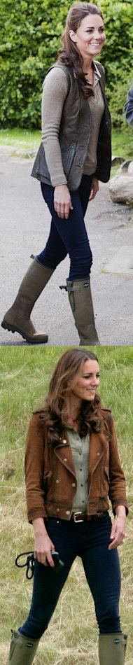 Kate Middleton gets her wellies out twice for country Sunday style