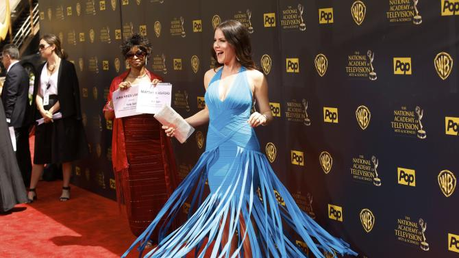 Actress Kira Reed Lorsch arrives at the 42nd Annual Daytime Emmy Awards in Burbank