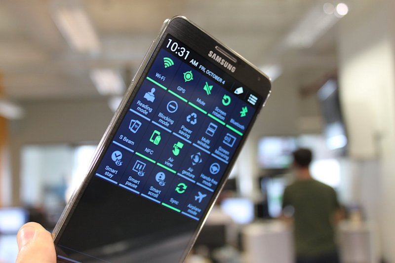 Samsung Galaxy Note 3 extra feature settings