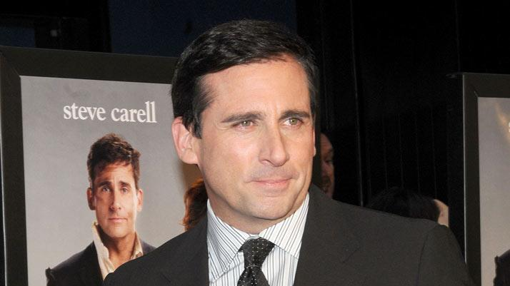 "Steve Carell attends the premiere of ""Date Night"" at Ziegfeld Theatre on April 6, 2010 in New York City."
