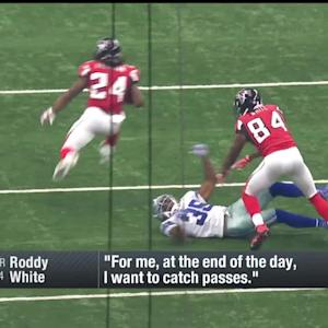 Atlanta Falcons wide receiver Roddy White: 'I want to catch passes'