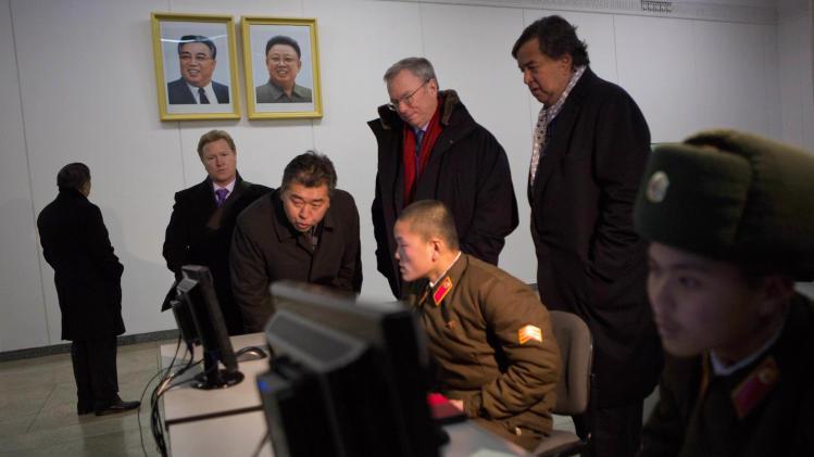 Tech delegation pressing NKorea Internet openness
