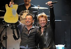 Bruce Springsteen and Jon Bon Jovi | Photo Credits: Larry Busacca/Getty Images for Clear Channel