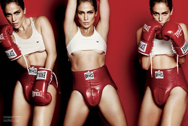 "Celebrity photos: Jennifer Lopez posed for a photo-shoot dressed as a boxer. During the interview she explained that she's a 'tough girl' from the Bronx: ""I can take a lot of punches. I keep going. I'"