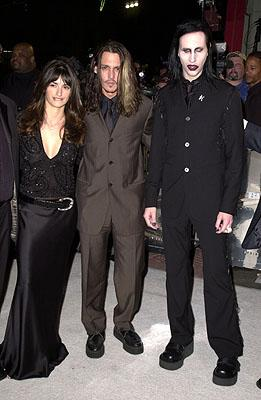 Penelope Cruz , Johnny Depp and Marilyn Manson at the Hollywood premiere of New Line's Blow