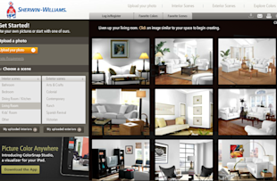 The Virtual + Visual: Paint Your Home Online image sherwin williams1