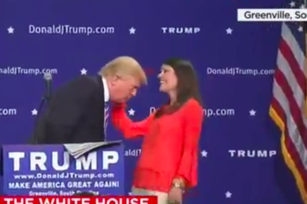 Donald Trump Invites Supporter Onstage to Inspect His Hair, Mimics Spanish Accent