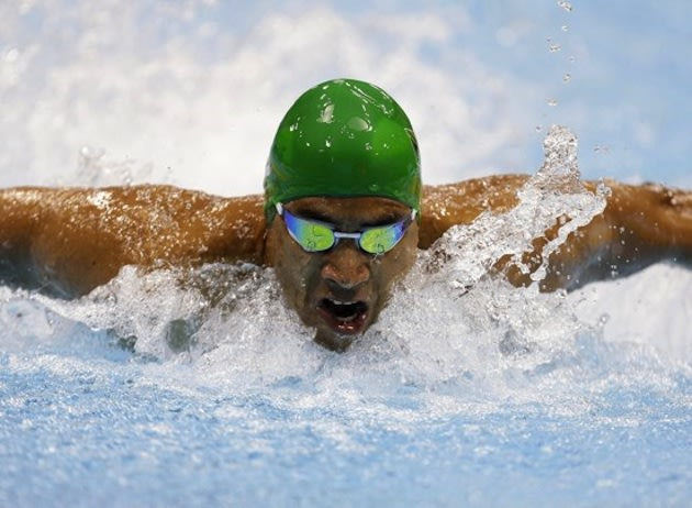 South African Paralympic swimmer Achmat Hassiem — AP