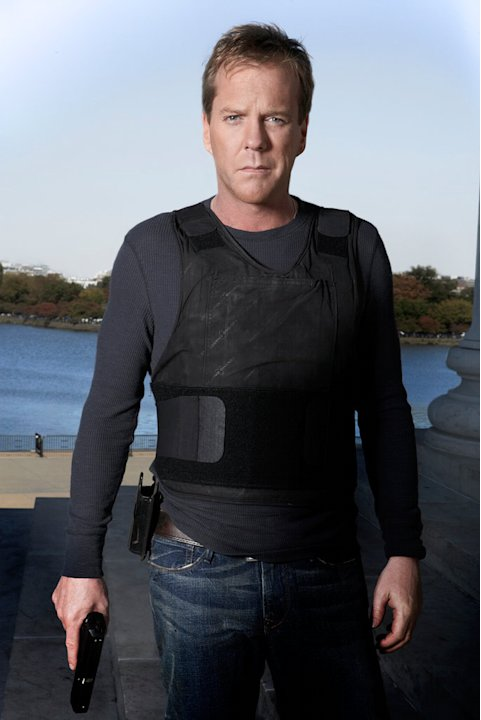 Kiefer Sutherland as Jack Bauer in 24. 