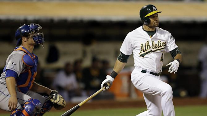 Crisp's 3-run triple helps A's halt slide