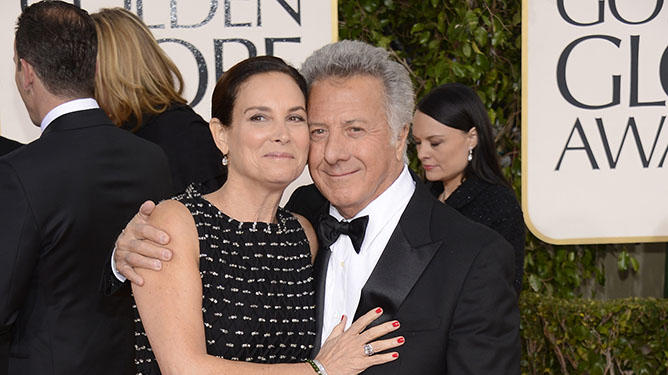 "NBC's ""70th Annual Golden Globe Awards"" - Arrivals: Lisa Gottsegen and Dustin Hoffman"