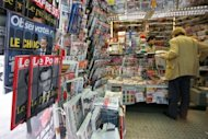 A Parisian newstand. French online classified advertisements exceeded ads in print publications for the first in 2011, the Xerfi-Percepta market research firm said on Tuesday, but warned of a slowdown of spectacular growth