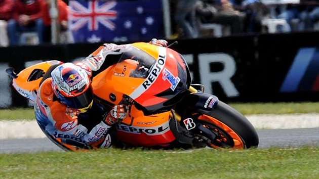 Casey Stoner at his home circuit at the Australian MotoGP at Phillip Island (AFP)
