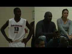 Michael Jordan (right) watched his nephew Justin play a recent game in North Carolina -- YouTube