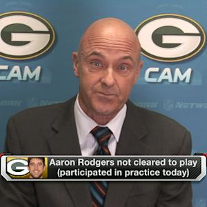 Green Bay Packers quarterback Aaron Rodgers still not cleared to play