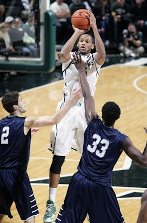 No. 5 Michigan State routs North Florida 78-48