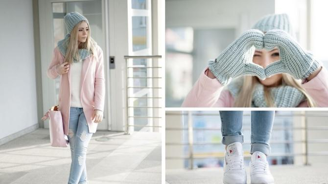 Powder look (by Rozalia Fashion)